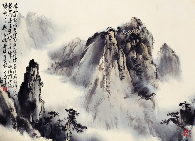 黃山信美玉屏峰